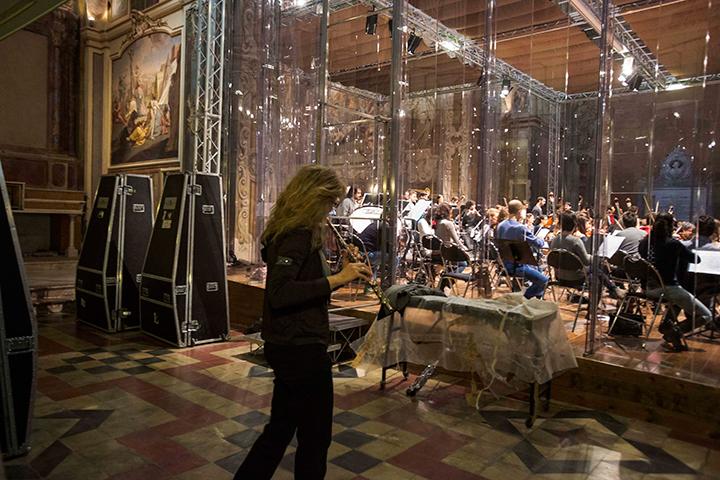 テアティニ教会を改装したケルビーニ管の稽古場の様子 Photo by (C) Silvia Lelli