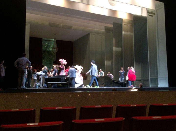 「オペラ」のリハーサル開始直前