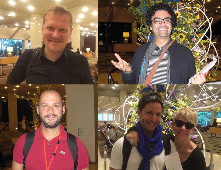 左上:演出のカスパー・ホルテン 左下:アレックス・エスポージト 右上:ローランド・ヴィラゾン 右下:ジョイス・ディドナート(右)とお友達