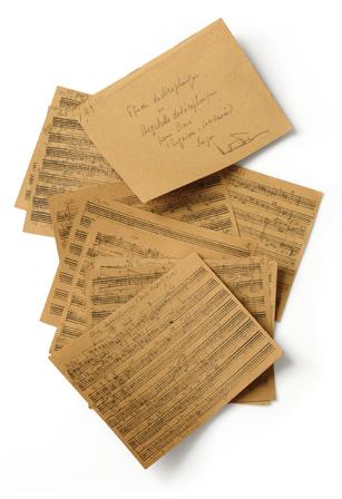 戸田邦雄 12音技法研究試作楽譜(手製五線紙) 1948年頃 日本近代音楽館所 蔵