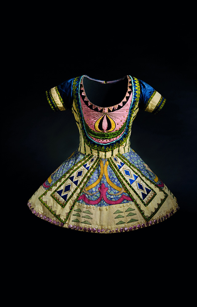 レオン・バクスト 「青神」の衣裳(《青神》より) 1912年頃 オーストラリア国立美術館 Léon BAKST Tunic from costume for the Blue God from the Ballets Russes' production of Le Dieu bleu (The Blue God), c.1912 National Gallery of Australia, Canberra