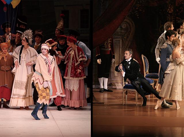 左:ウラジーミル・マラーホフ『ペトルーシュカ』 右:マニュエル・ルグリ『オネーギン』 (C)長谷川清徳