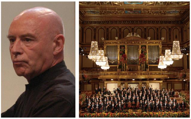 左:クリストフ・エッシェンバッハ 右:ウィーン・フィルハーモニー管弦楽団  ©Terry Linke(2点とも)