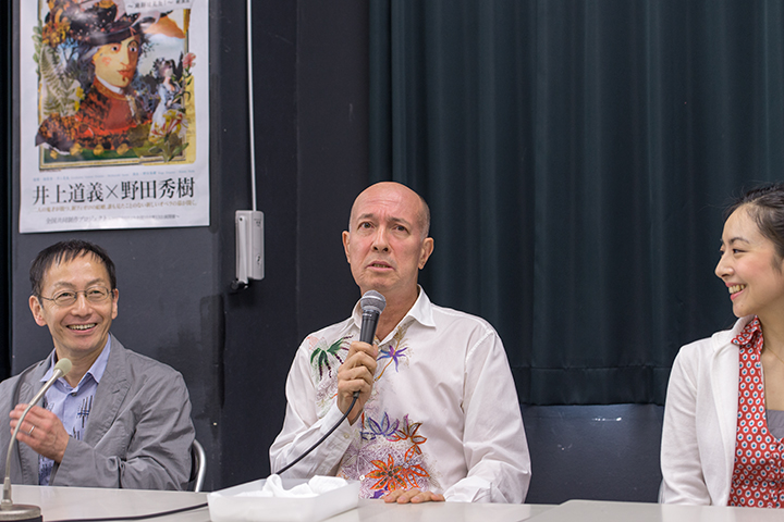 左から)野田秀樹、井上道義、小林沙羅