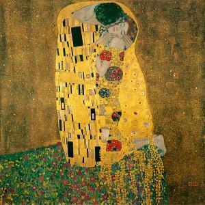 クリムト『接吻』 1907-1908年オーストリア・ギャラリー(ウィーン)