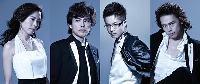 左より:安蘭けい/石井一孝/田代万里生/中川晃教