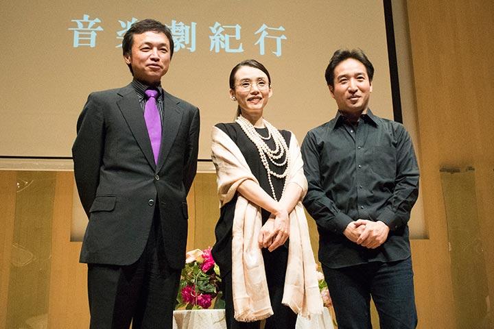 左より)加藤昌則、中嶋朋子、田尾下哲 Photo:M.Otsuka/TokyoMDE