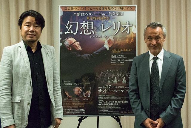 左)渡部ギュウ 右)パスカル・ヴェロ Photo:H.Yamada/TokyoMDE