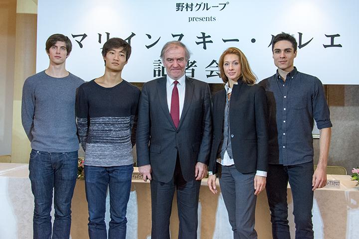 左より)ザンダー・パリッシュ、キミン・キム、ワレリー・ゲルギエフ、 エカテリーナ・コンダウーロワ、ティムール・アスケロフ