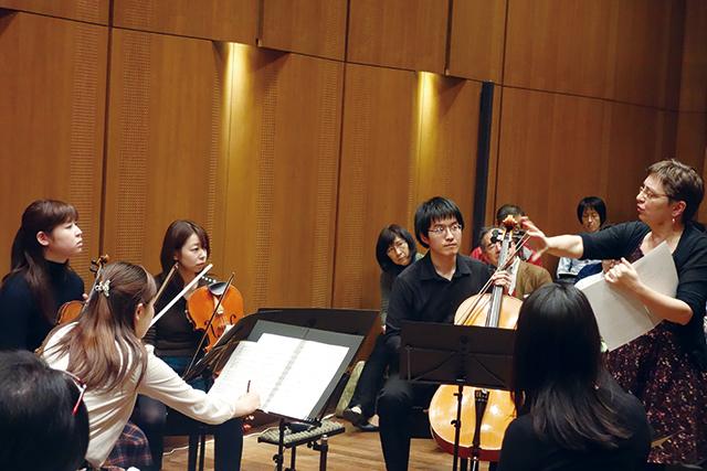 昨年12月に行われたマスタークラス(クァルテット・ジョイア) 写真提供:テレビマンユニオン