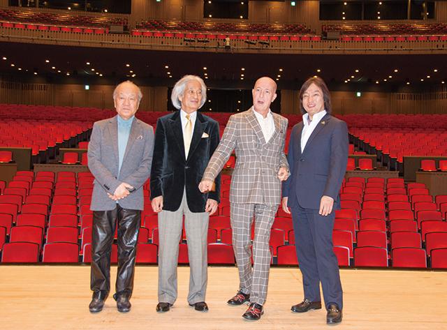 左より 外山雄三、飯守泰次郎、井上道義、飯森範親 Photo:M.Terashi/Tokyo MDE