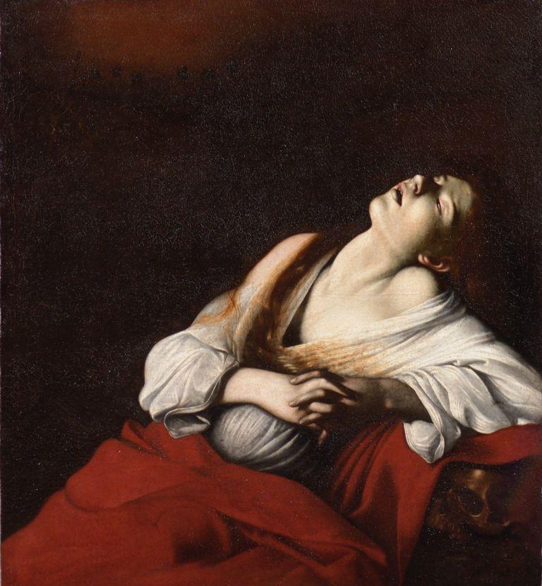カラヴァッジョ 《法悦のマグダラのマリア》  1606年、油彩/カンヴァス、107.5cm×98.0cm、個人蔵