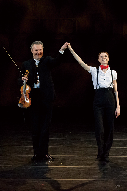 左:ワディム・レーピン 右:スヴェトラーナ・ザハーロワ