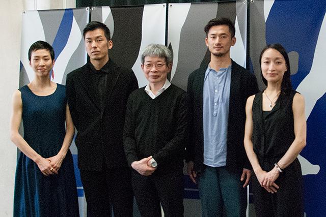 記者会見から 左より井関佐和子、金森 穣、平田オリザ、中川 賢、石原悠子  Photo:H.Yamada/Tokyo MDE