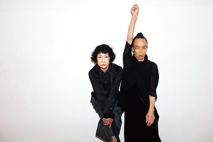 左:山田せつ子 右:笠井 叡  撮影:笠井爾示