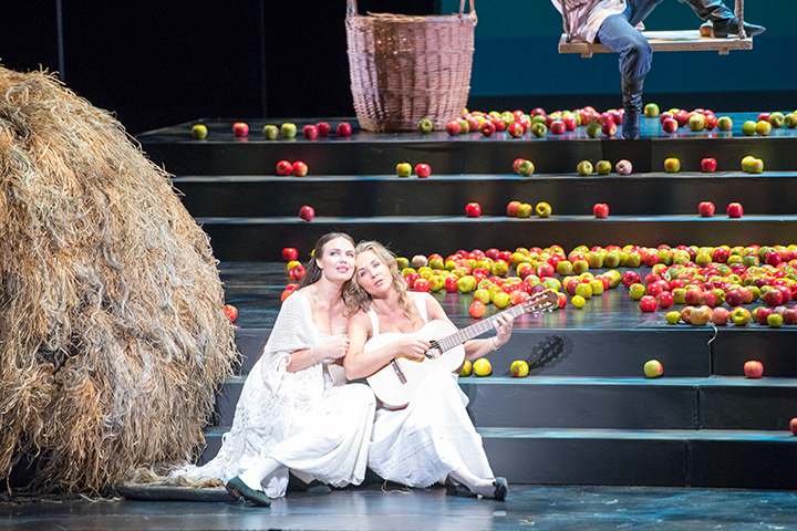 左)タチヤーナ:マリア・バヤンキナ 右)オルガ:エカテリーナ・セルゲイエワ